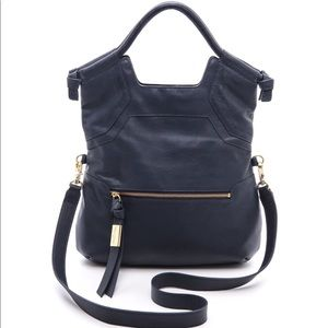 Foley & Corinna Essential City Bag (Navy Leather)